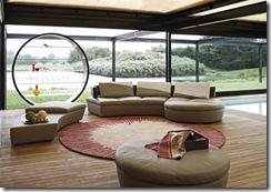 roche bobios symbole leather sofa ottoman group