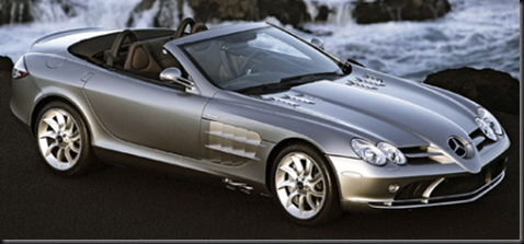 9. Mercedes Benz SLR McLaren Roadster $495,000.