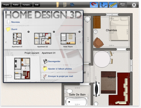Home design 3d in ipad app devilart blog diary for Architecture 3d ipad