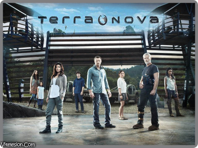 TERRA NOVA:  Cast (L-R):  Naomi Scott, Alana Mansour, Shelley Conn, Landon Liboiron, Jason O'Mara, Allison Miller, Stephen Lang and Christine Adams in TERRA NOVA premiering this fall on FOX. ©2010 Fox Broadcasting Co.  Cr:  Michael Lavine/FOX
